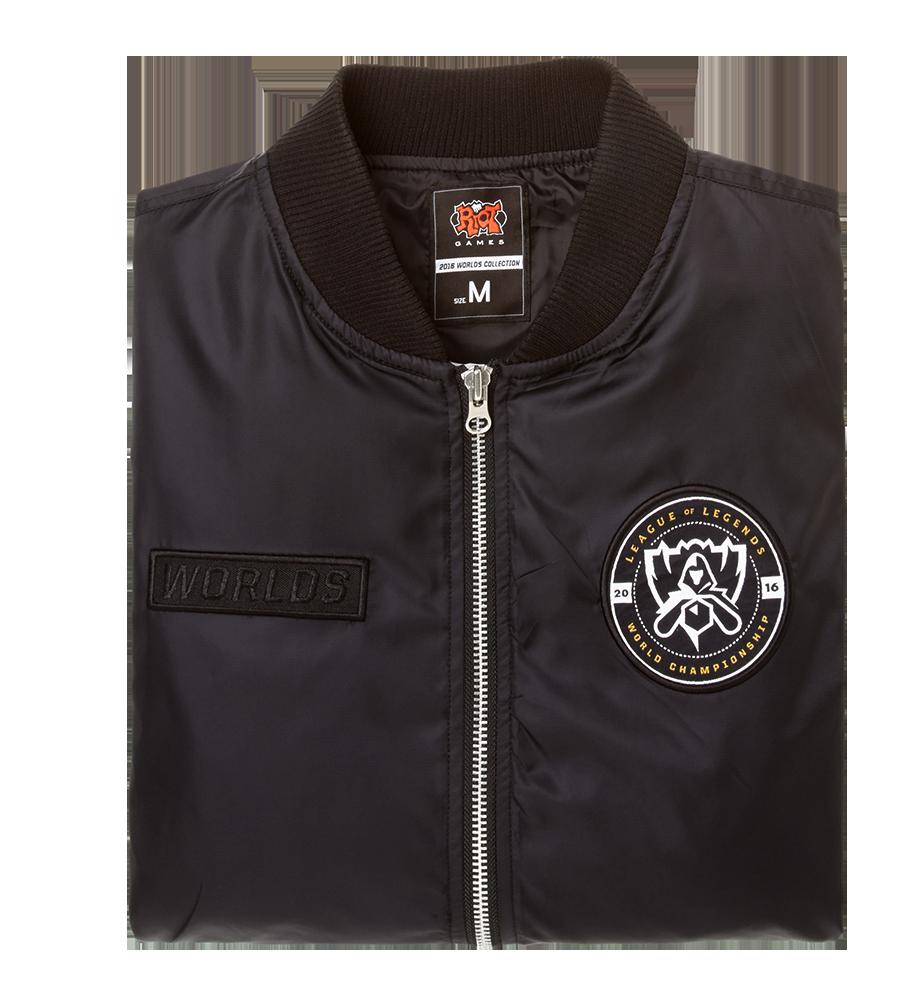 Riot Games Merch 2016 Worlds Bomber Jacket Unisex Jaket Boomber Blue Navy