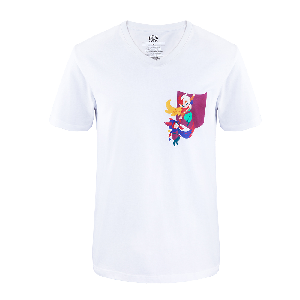 various colors 6921c 49ee6 Maglietta Xayah e Rakan con finto taschino - Negozio Riot Games