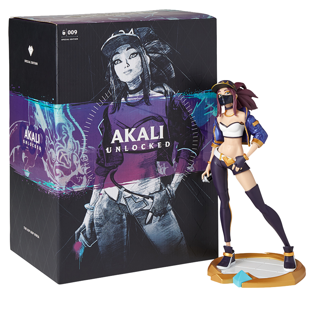 League Of Legends K//DA Akali Unlocked Statue LOL Collectible New Official UV